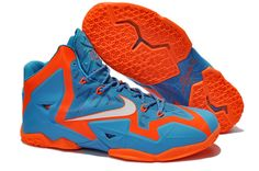 wholesale dealer b06b0 3968b Buy Nike Zoom Lebron XI Authentic Blue Grey Orange For Sale from Reliable  Nike Zoom Lebron XI Authentic Blue Grey Orange For Sale suppliers.