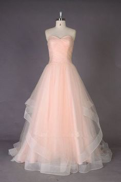 Charming Sweetheart Ball Gown Long Tulle Quinceanera Dress/Prom