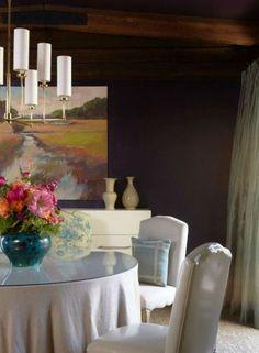 Dark Eggplant Color Scheme For Dining Room