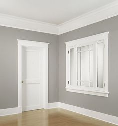 Floor to ceiling installation of WindsorONE Classical Craftsman moldings.: