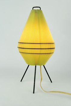 Original 1950s Tripod Table Lamp Atomic Mid Century Danish Modern Eames 60s 70s