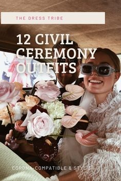 12 STYLES FOR YOUR CORONA-COMPATIBLE CIVIL CEREMONY Civil Wedding Dresses, Bridal Dresses, Civil Ceremony, Civilization, Fashion Forward, Bride, Stylish, Inspiration, Outfits