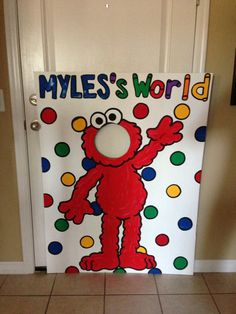 Lets Be Elmo  Sesame Street 1 Character Photo Party Cut-Out Prop Standee