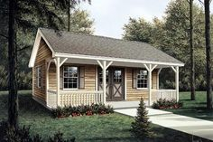 We found some shed design plans that are are perfect for DIY building sheds and include small cabin plans and bunk house plans, too. Some even have charming front porches.