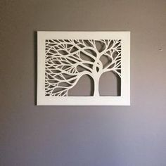 Items similar to 11 x 14 Tree Silhouette Cut Canvas - Set of 3 on Etsy Diy Wall Art, Metal Wall Art, Diy Art, Wood Art, Wood Patterns, Canvas Patterns, Scroll Saw Patterns, Kirigami, Cut Out Canvas