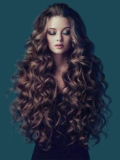 Long Fluffy Wavy Colormix Synthetic Wig - COLORMIX