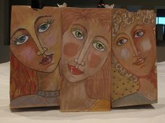 using the brown paper and creating the skin tones from that - art projects - craft paper ? Classe D'art, Middle School Art Projects, 6th Grade Art, Ecole Art, Art Lessons Elementary, Arts Ed, You Draw, Art Graphique, Portrait Art