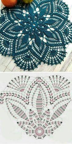 Crochet Table Runner Pattern, Free Crochet Doily Patterns, Crochet Doily Diagram, All Free Crochet, Crochet Tablecloth, Crochet Patterns For Beginners, Crochet Designs, Knitting Patterns, Crochet Ideas