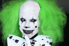 Very creepy sadistic looking clown makeup #beauty