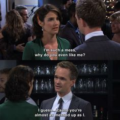 Check out the latest and funniest quotes of How I Met Your Mother. Get ready for lolworthy gifs! Best Movie Quotes, Tv Show Quotes, Film Quotes, Romance Quotes, Funny Quotes, Barney Quotes, Barney Stinson Quotes, Ted And Robin, Barney And Robin