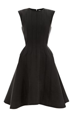 Shop Silk Faille A-Line Dress by Thom Browne Now Available on Moda Operandi