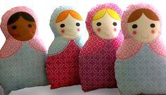 Customized Matrioshka Doll Pillow.