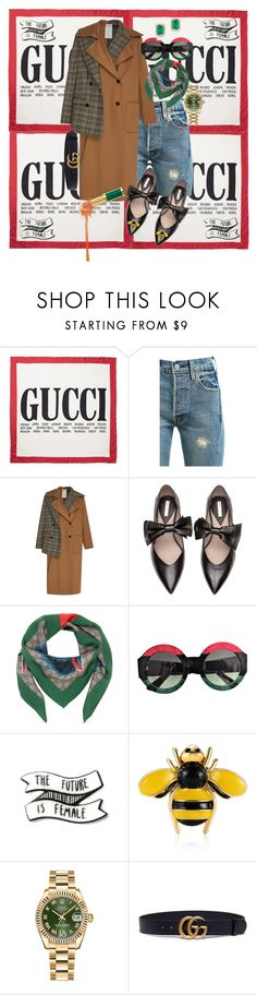 """gucci gang"" by creativeass on Polyvore featuring Gucci, Levi's, Monse, Rolex and Effy Jewelry"