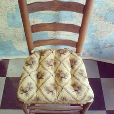 Coming Soon Wilderness Pinecones Beige Dining Chair Pads!
