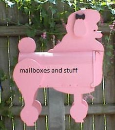 Pink poodle mailbox I actually have this my kids bought this for me! Tiny Toy Poodle, Small Poodle, Pink Poodle, Unique Mailboxes, Projects To Try, Wood Projects, Craft Projects, Paws And Claws, Dog Items