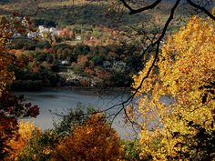 Hudson River Valley in autumn.