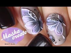 "Объемный Маникюр ""бабочки на ногтях"" Фактурным гелем. Обзор гель лака Haruyama + Дизайн ногтей - YouTube"