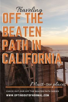 If you plan to travel to California, we'll show you some things to do off the beaten path in Los Angeles, San Diego and even at the beach. California has some amazing photography opportunities and amazing unpopular places where you wouldn't expect it. Visit California, California Travel, Us Travel Destinations, Places To Travel, Travel Usa, Travel Tips, Travel Guides, Work Travel, Budget Travel