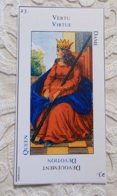 Grand Etteilla - Queen of Wands - Botok Királynéja Tarot kártya - Tarot tanfolyam indul 2018 őszén, részletek a blogon
