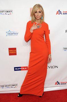 Judith Light Evening Dress - Orange is certainly Judith Light's color! She wore…