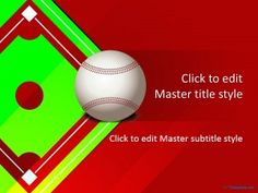 free baseball powerpoint template for presentations on sport and, Powerpoint templates
