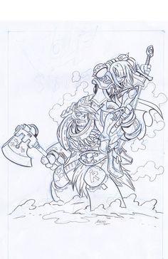 Cover art sketch by NachoMon on deviantART