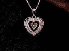 Platinum diamonds. Heart shaped diamond.