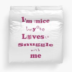 'Snuggle ~ Tiny Sweet Mice Line' Duvet Cover by We ~ Ivy Couple Look, King Design, Holiday Quote, Face Towel, Line S, Cuddle, Mice, Hand Towels, Snuggles