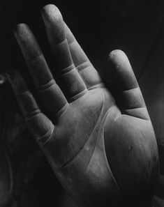 Hand of the seated Yakushi Nyorai, (The Healing Buddha), Yakushi-ji Temple in Nara, 1943. Photo by Ken Domon