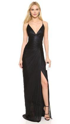 Maria Lucia Hohan Sleeveless Spaghetti Strap Gown