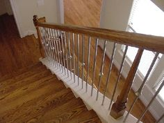 Stair Design Ideas: Wood Stairs with Steel Balusters