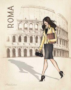 Roma by Laliberte, Andrea Image Illusion, Framed Art Prints, Poster Prints, Framed Wall, Retro, Kunst Poster, Paris Wall Art, Photo Portrait, Photo Art
