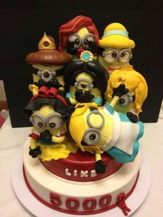 Now I have to come up with an event that requires a cake with the Minions dressed as all the Disney princesses.