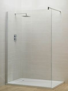 April Identiti2 Shower wall 1000mm - £263  This enclosure is reversible Polished Silver 25mm adjustment 1950mm High 8mm Toughened safety glass Clean & Clear easy clean glass Stainless Steel support bracket Suitable for tray or wetroom installations Fully concealed fixings Large adjustment for out of true wall Lifetime guarantee Price includes VAT and delivery to most UK postcodes