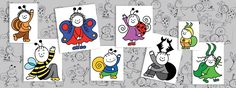 A sorozat szereplői | Bogyó és Babóca Back To School, Peanuts Comics, Berries, Cartoon, Taps, House Ideas, Amigurumi, Bury, Entering School