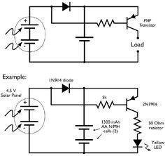 Solar Panel Dark Detection - simple solar circuits eviladscientist