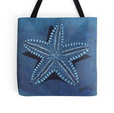 Starfish in blue - acrylic painting