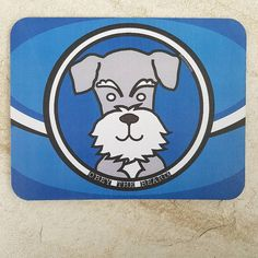 When your excited by making a mouse mat! #mousemat #schnauzerlover #obeythebeard