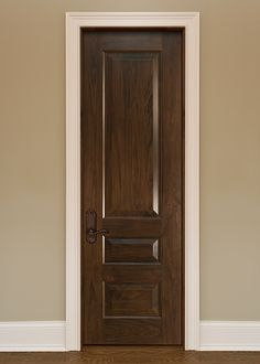 CUSTOM SOLID WOOD INTERIOR DOORS - by Glenview Doors Classic . & Interior Door Custom - Single - Solid Wood with American Walnut ...