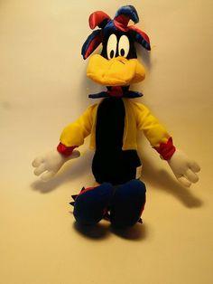 Daffy Duck Jester Looney Tunes 2002 Warner Bros stuffed plush NANCO in Toys & Hobbies, Stuffed Animals, Warner Bros. | eBay