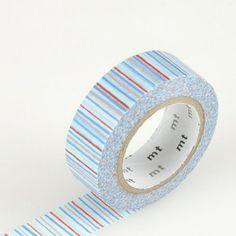 Japanese Washi Tape – Horizontal Stripe Red White Blue.  Get it here: http://washikawaii.com/shop/japanese-washi-masking-tape-horizontal-stripe-red-white-blue/