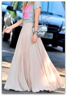 Long skirt.this is what girls should wear long skirts not short skirts.
