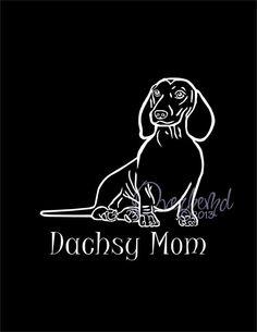 Dachshund Personalized Wiener Dog Dachsy Mom Car Laptop Window Vinyl Decal Sticker via Etsy $5.49