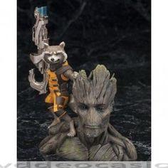 FIGURA GUARDIANES DE LA GALAXIA ARTFX 20 CMS … en Dvd de Ocasión, Figura de la que será la décima película de Marvel: Guardianes de la Galaxia con Rocket Raccoon. Rocket es una criatura alienígena