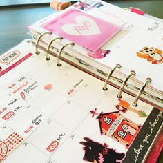 February month view: Limelife Planner Inserts in A5 Patent Domino Filofax