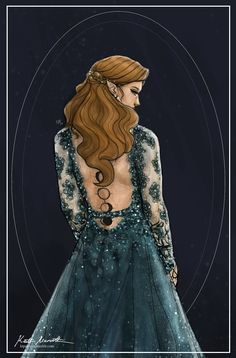 A post-ACOWAR Starfall perhaps? (In other words, this started out as the starfall dress but then I wanted to attempt the new tattoos and got distracted by pretty lace wedding gowns)