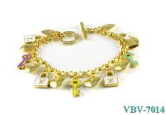 Louis Vuitton Charm Bracelet VBV-7014 Gold Style