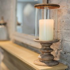 NEW! Orleans Wooden Hurricane - Hurricane Lamps - Lanterns & Candle Holders   Culinary Concepts