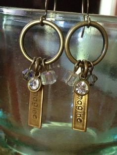 Imagine or Dream earrings by Local Color.