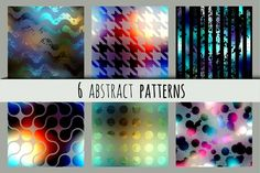 Set of abstract patterns. Graphics Set of square blurred seamless patterns in different styles. Vector, RGB, 10 eps. by tkdesign